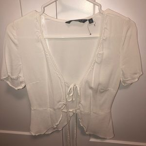 White glass ons blouse